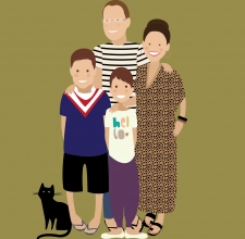 Pop Portrait- Brisbane Illustrator-Mrs Woog